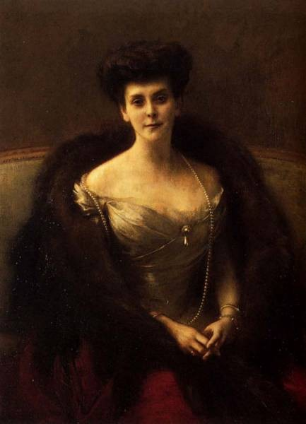 Adolphe Jean Portrait Of Princess O V Paley